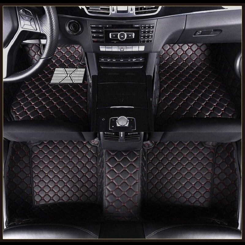 Voiture Tapis De Sol pour Mercedes Ben E classe W110 W114 W115 W123 W124 W210 W211 W212 AMG E43 E53 E63 voiture Style Tapis De Sol Doublures