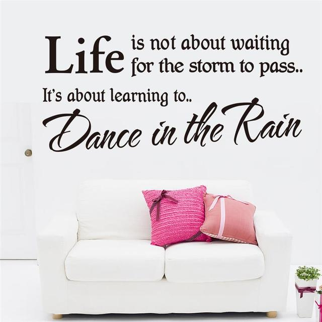 Free Shipping Life Inspirational Quotes Wallpaper Home Living Room