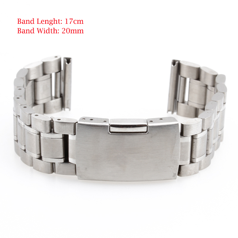 20mm 18mm 16mm New Wristwatch Part Stainless Steel Band Metal Bracelet Watch Strap Men's watch Band Accessories Watchbands Clock brand new riso rpa3 metal screen part 030 16249
