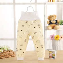 Фотография 2017 spring winter new boy pants waist Cotton Quilted pants thickened belly support warm pants baby long johns