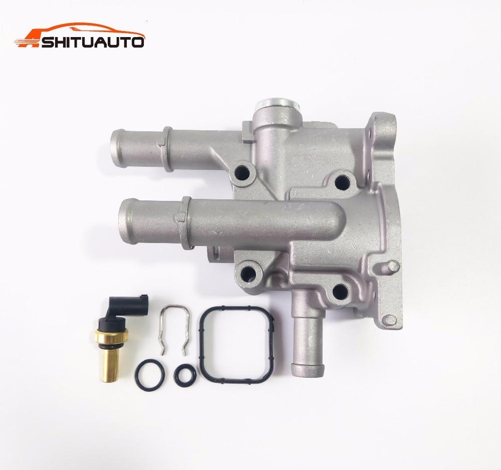 En aluminium Moteur De Refroidissement Auto Voiture Thermostat Logement Couverture Capteur Pour Chevrolet Cruze Epica Opel Astra Vectra 96984103 96817255