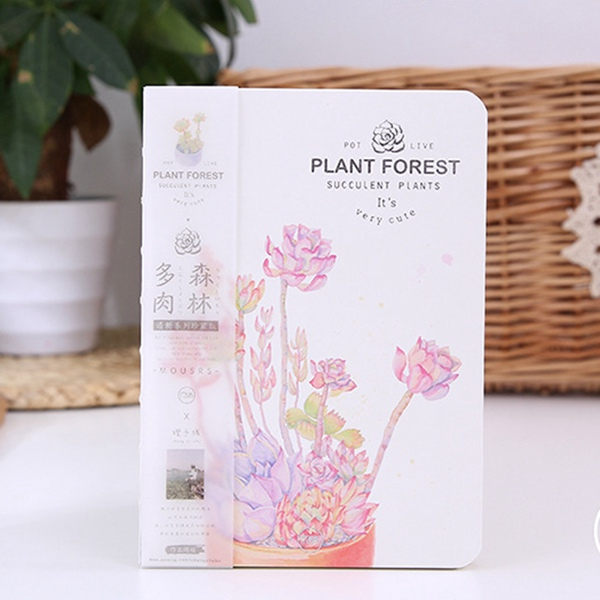 Free shipping plant forest nice watercolor aesthetic indoor plants books daily memos cute hard copybook pocket organizer planner resurrection plants hydrophile jericho rose plant