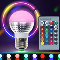 5W RGB Led Bulb Lights E27 110V 220V LED RGB Spot Light Lamp E14 GU10 Dimmable Magic Holiday RGB Bulb Lighting+IR Remote Ampoule
