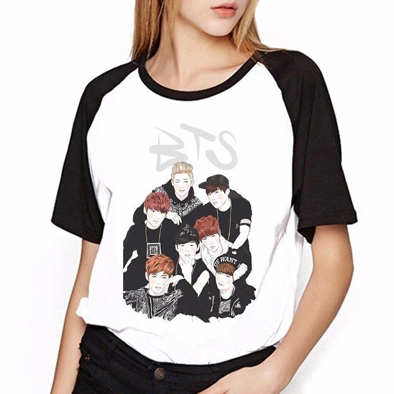 T-shirts Neueste Kollektion Von Bts T-shirt Liebe Selbst Jungkook Jimin Jin Suga V K Pop Cartoon Kawaii Bts Fan Shirt Frauen Top Tees Weiblich Harajuku T-shirt FöRderung Der Produktion Von KöRperflüSsigkeit Und Speichel