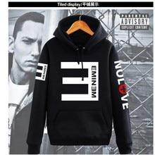 2017 Winter Men's Fleece Hoodies Rap Eminem Printed Thicken Pullover Sweatshirt Men Sportswear Fashion Clothing
