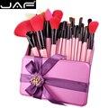 Jaf 32 conjunto de pincel de maquiagem de cabelo natural pincéis de maquiagem 32 pcs com presente de aniversário presentes de compo escovas