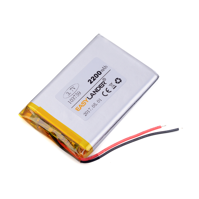 103759 2200mAh 3.7v lithium ion batteries For Mp3 MP4 MP5 GPS PSP mobile Pocket PC e-book medical equipment, mobile power 963760