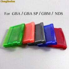 Chenghaoran 5 cores disponíveis 1pc para nintendo gba, gba sp, gbm, nds jogo cassete escudo cartão de jogo caixa titular do cartão