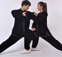 Martial Arts Suit for Winter Velvet Chinese Traditional Tai Chi Uniforms Kung Fu Clothing for Men and Women