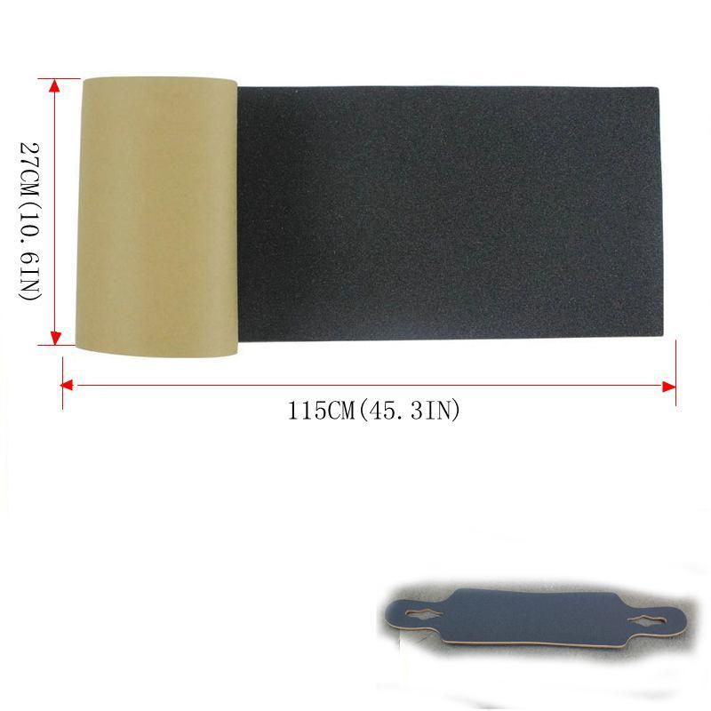 Good Quality 115*27cm Longboard Sandpaper Griptape 125*27cm Black Professional Skateboard Silicon Carbide Skate Board GripTapes