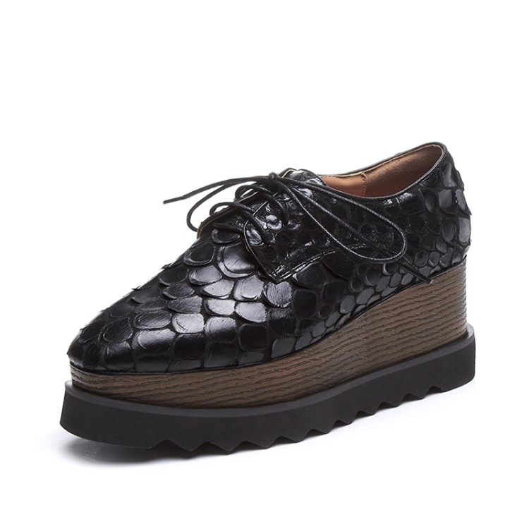 Plataforma Casuales Zapatos Mujer Para Moda Negro Cuñas Marca blanco Damas Encaje Vaca Bombas Cuero De 2018 Tacones {zorssar} qBxZpzw