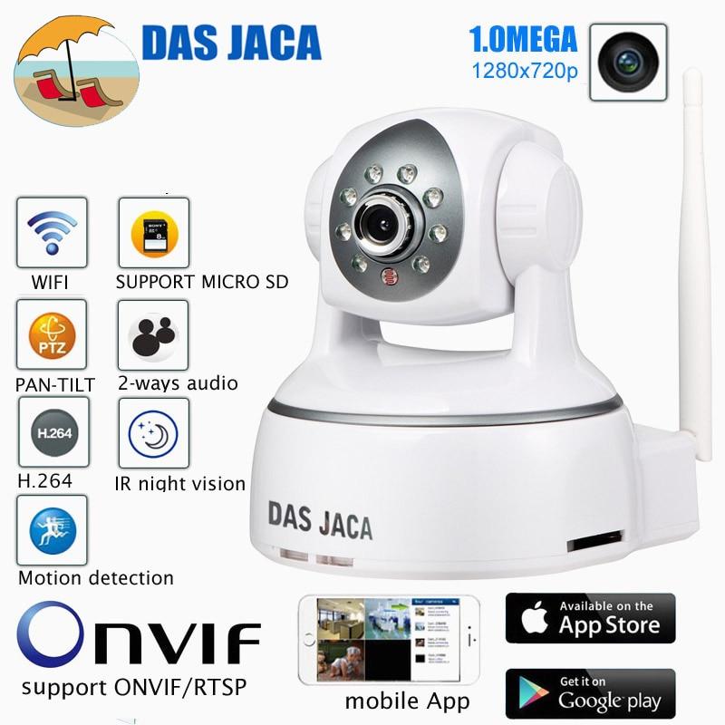 Das Jaca 1.0MEGA PTZ IP Camera 720P HD WIFI Camera Infrared Night security Camera P2P Baby Monitor CCTV Home Protection Remote lolita jaca мини юбка