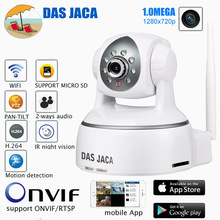 Das Хака 1.0 мега PTZ IP Камера 720 P HD WI-FI Камера инфракрасного ночного безопасности Камера P2P Видеоняни и радионяни CCTV дома защита удаленного