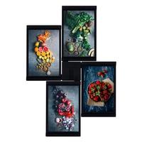 TTLIFE 4 Pcs 4X 6 Inches Black Photo Frame Set Creative DIY Gift Home Decor Photo