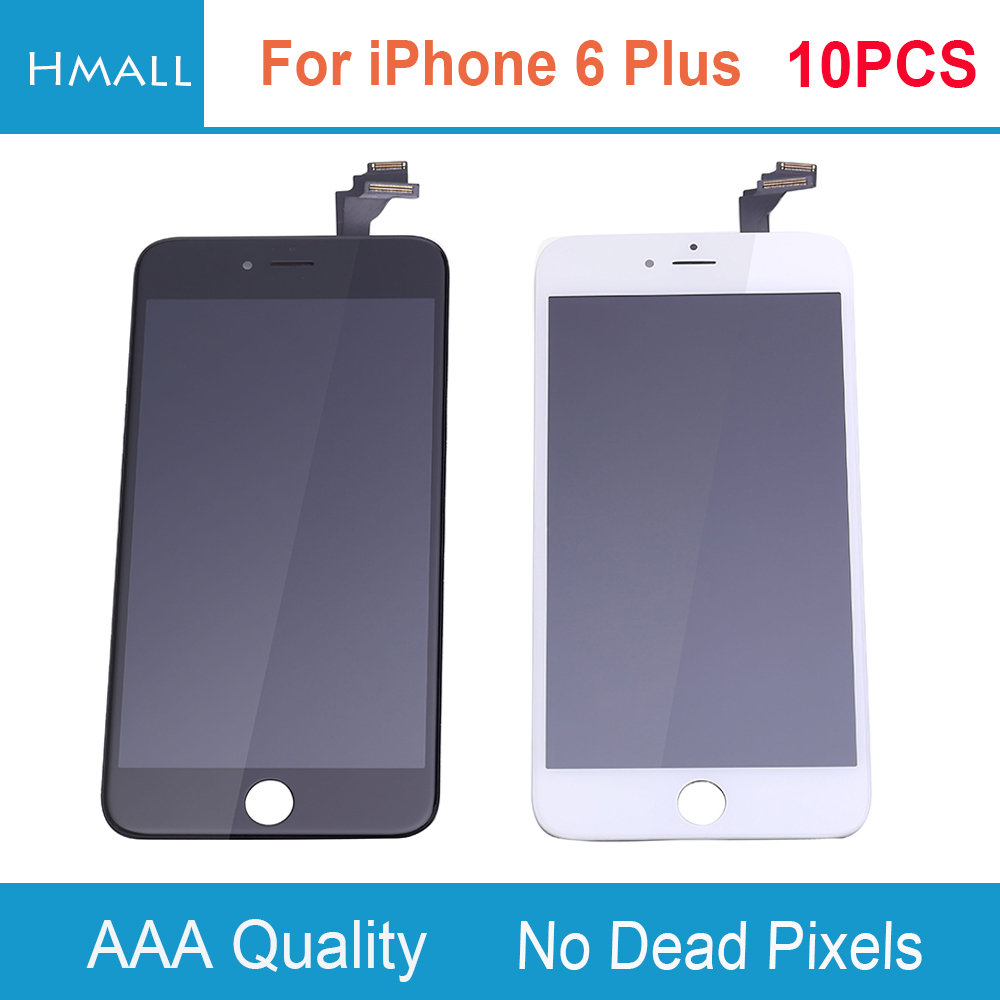 10 PCS For iPhone 6 Plus LCD Display with Touch Screen Digitizer Assembly Replacement for iPhone6 Plus 6Plus No Dead Pixels DHL