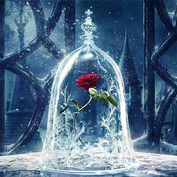 Broderie Diamant Rose St Valentin