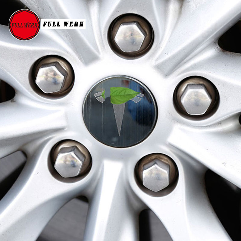 Set of 4pcs Car Styling Wheel Hub Rim Cover Cap Protector for Tesla Model S X Wheel Center Sticker Exterior Accessories