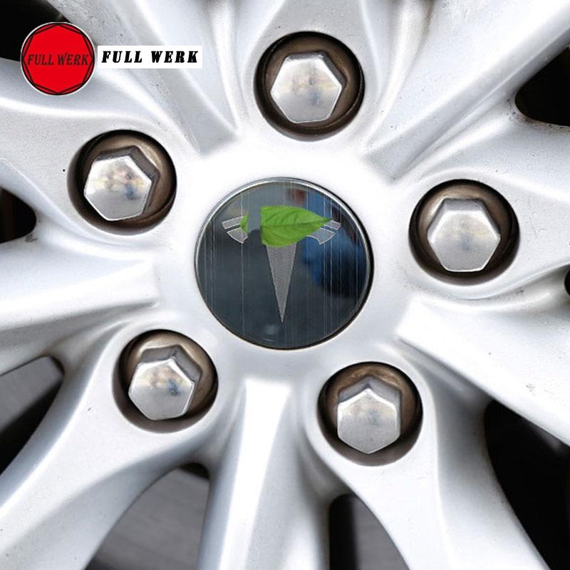 Set of 4pcs Car Styling Wheel Hub Rim Cover Cap Protector for Tesla Model S X Exterior Accessories