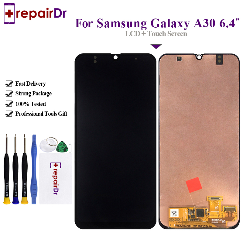 Tested For <font><b>Samsung</b></font> Galaxy <font><b>A30</b></font> A305/DS A305F A305FD A305A Display Touch Screen Digitizer Assembly For <font><b>Samsung</b></font> <font><b>A30</b></font> <font><b>lcd</b></font> Screen image