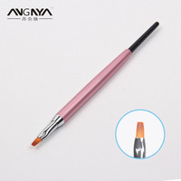 ANGANY 10 Adet Kadınlar Profesyonel Nail Art UV Jel Fırça Boyutu 2 # kristal Kalem Fırça Boyama Nail Art Akrilik UV Jel Tasarım Fırça
