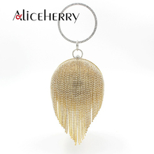 Luxury Handbags Women Bags Designer Gold Clutch Red Ball Shaped Silver Evening Bag Ladies Round Shoulder Wedding Purse Bag factory direct selling wholesale big round hard case crystal box clutch bag evening bags black gold red purple fuchsia