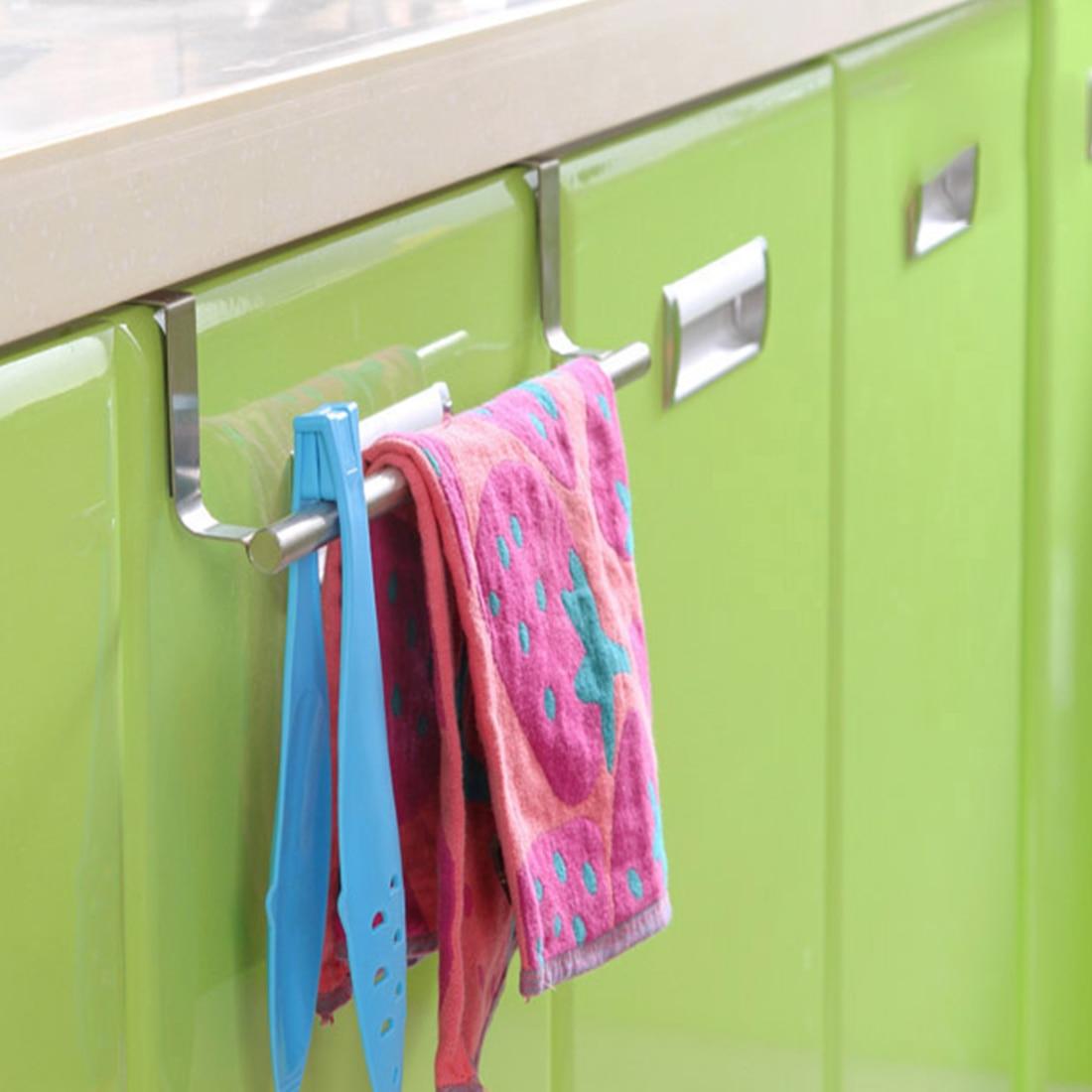 1pcs Heated Towel Rail Holder Bathroom Accessoriestowel: 1Pcs Stainless Steel Bathroom Kitchen Multipurpose Single