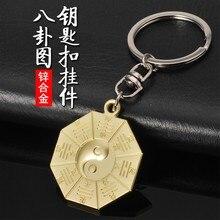 2019 metal gossip keychain Tai Chi transshipment gift car key ring for BMW Toyota Audi volkswagen chain tags men pendant