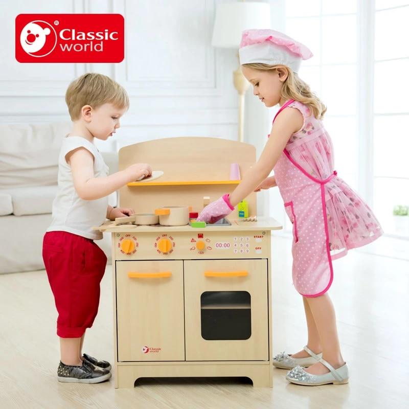 Artificial Mini Wooden Children Kitchen Set Baby Kitchen Toys Male Girl Child Multifunction Educational Toys Birthday Gift Children Kitchen Sets Children Kitchenbaby Kitchen Aliexpress