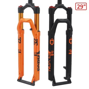 MTB Bicycle Fork Magnesium Alloy Air Suspension 26 27.5 29er Inch Straight Thru Axle 9x100 mm QR Quick Release Bike Fork Lockout