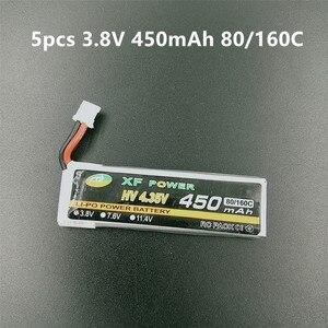1S HV 4,35 V Lipo батарея 3,8 V 450mAh 80C/160C LIHV PH2.0 разъем для Emax Tinyhawk Tiny7 Happymodel Snapper7 FPV Racing Drone
