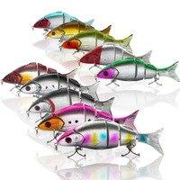 10Pcs Set Minnow Bait Fishing Lures Articulated Swimbait 12cm/21g Fishing Tool