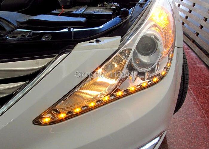 2Pcs Λευκό + Κίτρινο 8W Διακόπτης - Φώτα αυτοκινήτων - Φωτογραφία 4