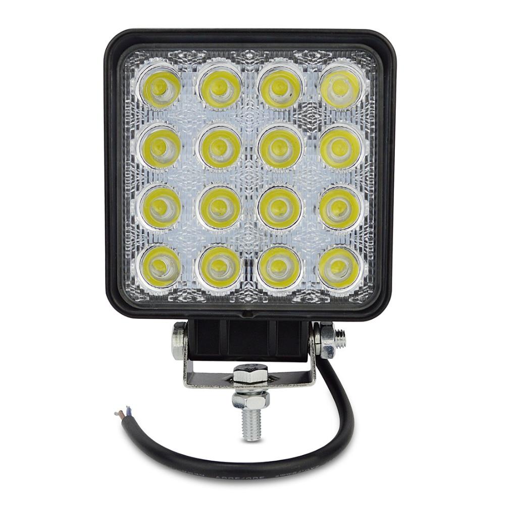 48W Led Work Lights Flood Spot Beam 12V 24V ATV SUV Tractor Mine Boat Truck Lamp