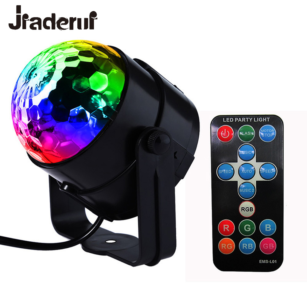 Jiaderui LED DJ Disco Ball Party Lights Stage Lights 3W 240V 7 Colors Sound Activated Strobe Stage Lights Club Strobe Effects