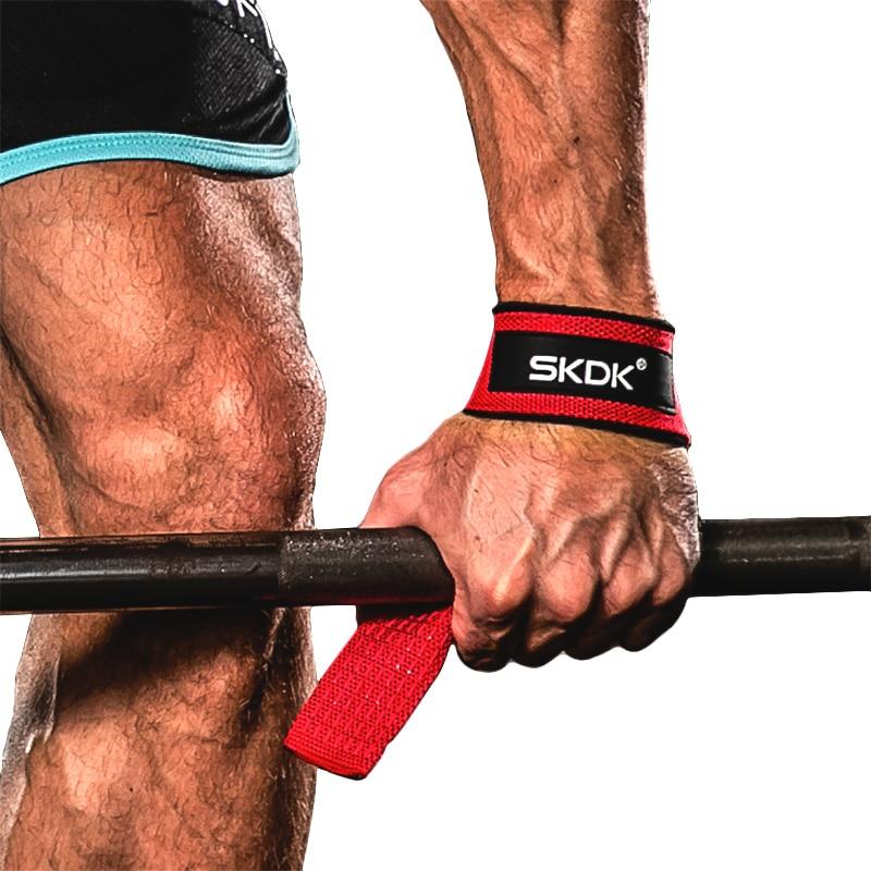 SKDK 2 шт./пара тренажерный зал фитнес тяжелая атлетика захват ремни гантели Ручные захваты тренировочные браслеты для штанги тянуть вверх