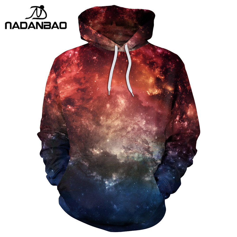 NADANBAO New Style Hiphop Hoodies Sweatshirts Galaxy Space 3D Printing New Fashion Women ...