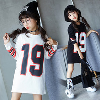 Garment Girl Long Hip 2017 Autumn New Product Pure Cotton Long Sleeve Letter Printing Pure Cotton Kids Clothing