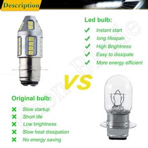 Image 5 - 1Pcs 3030 30SMD P15D 25 1 H6M Dual Brightness LED Motorcycle Motor Bike/Moped/Scooter/ATV Headlight Head Lamp Bulb Lights White
