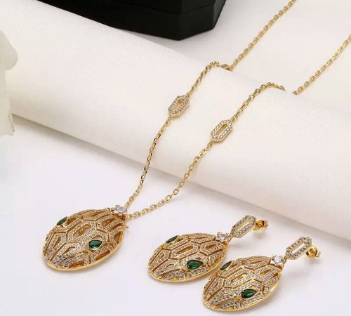 New full zircon paved ston necklaces and earrings yellow/white gold color jewelry sets for women party-in Jewelry Sets from Jewelry & Accessories    1