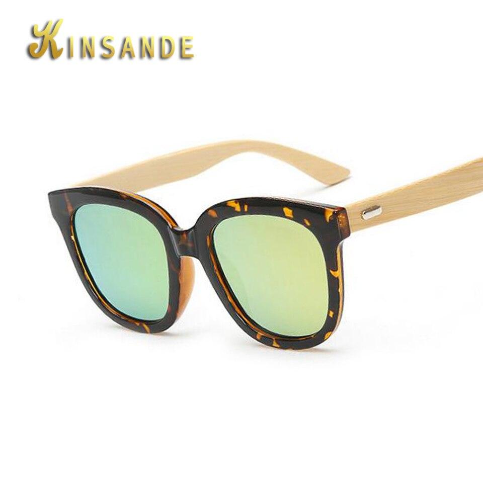 KINSANDE 2017 New Fashion Handmade Bamboo Wood Sunglasses Male and Female Round Frame font b Gafas