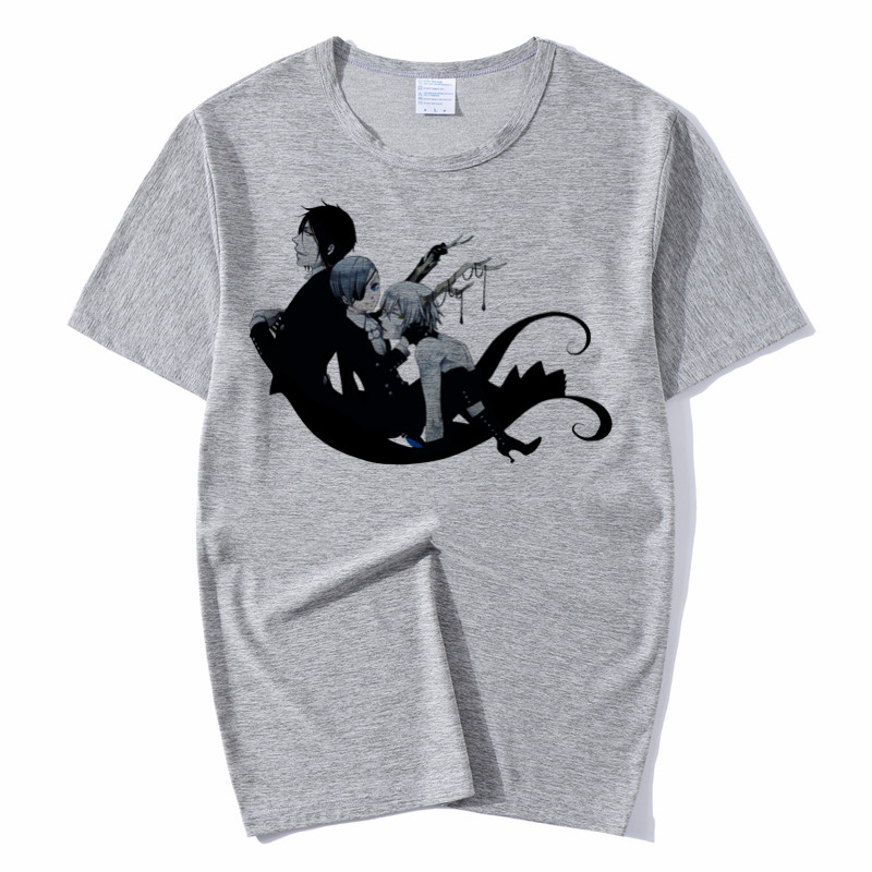 Men and Women Black Butler Design Funny Harajuku T Shirt Unisex Comfortable Breathable Graphic Premium T Shirt Men 39 s Streewear in T Shirts from Men 39 s Clothing