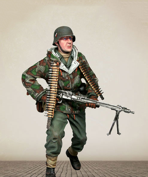 Assembly  Unpainted  Scale 1/35 GK Soldier - Wehrmacht  Soldier   Figure Historical  Resin Model Miniature Kit