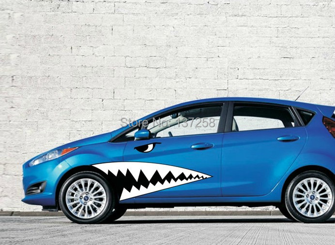New Unique Design Dynamic Shark Mouth Car Stickers And Decals - Design decals for cars