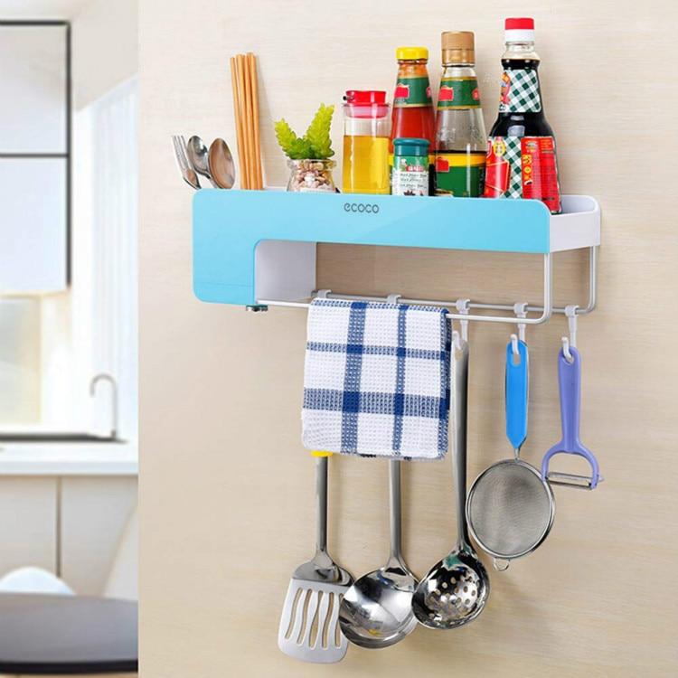 Adhesive Bathroom Shelf Organizer Shower Caddy Kitchen Storage Rack Wall Mounted