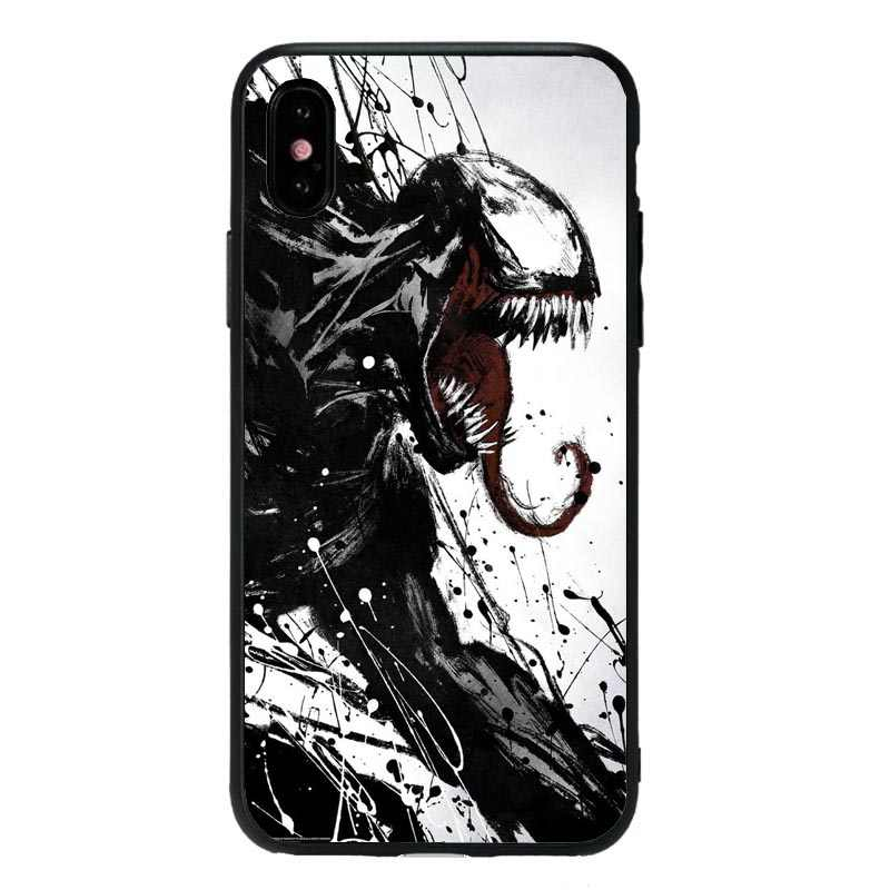 Marvel inversa Super héroe veneno funda para teléfono para iPhone 5S SE 6 6 S 7 8 Plus XS Max XR X cubierta de TPU suave negra de dibujos animados bonitos de 10 Avatar