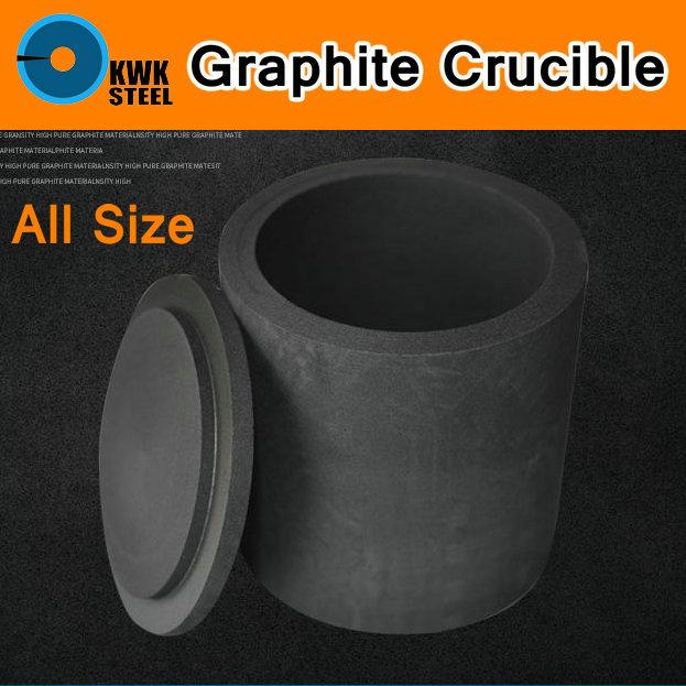 Graphite Crucible Pot With Cap Melting Metal Pure Graphite Crucible Cup Mould Melting High Temperature Resistance Gold Sliver