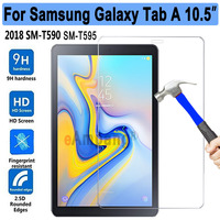 New Tempered Glass For Samsung Galaxy Tab A/A2 10.5 SM T590 T590 T595 Tablet Screen Protector 9H Toughened Protective Film Guard Tablet Screen Protectors Computer & Office -