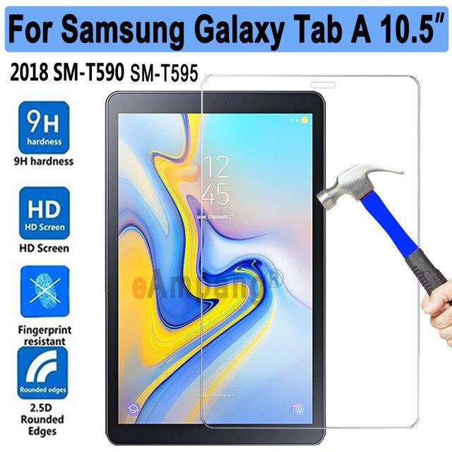 Nuevo de vidrio templado para Samsung Galaxy Tab/A2 10,5 SM-T590 T590 T595 Tablet Protector de pantalla 9 H templado película protectora