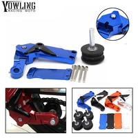 Universal motorcycle accessories CNC Automatic Adjustable Conversion Motorcycle Chain Tensioner For yamaha fz6 mt 07