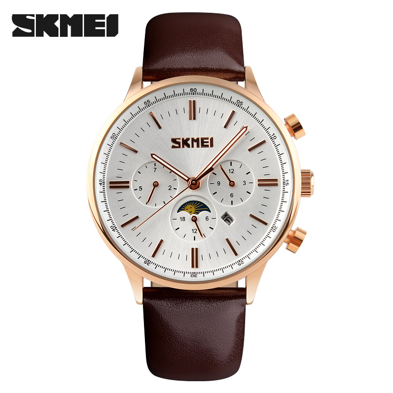 2018 Watches Men Luxury Top Brand skmei Fashion Men's Quartz Watch sport casual Wristwatch relogio masculino relojes goldblack